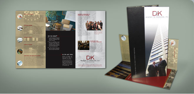 self mailing brochure graphic design